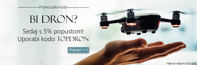 DJI droni sedaj 5% ceneje