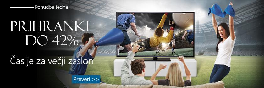 Prihranki do 42% na TV-jih in projektorjih
