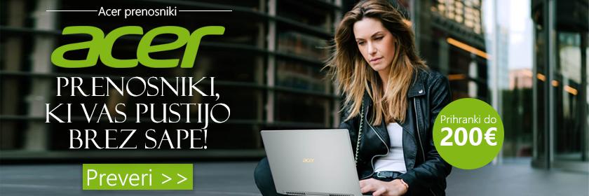Prihrani do 200€ na Acer prenosnikih