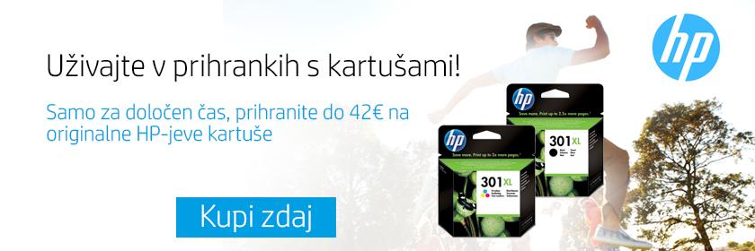 Prihrani do 42€ na originalnih HP kartušah