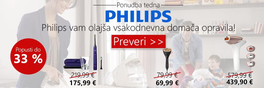 Philips akcija s popusti do 33 %