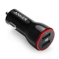 Anker PowerDrive 2 Lite 24W 2-portni avto-polnilec črn