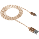 CANYON Lightning USB Cable for Apple, braided, metallic shell, 1M, Gold