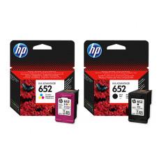 HP komplet originalnih kartuš 652, črna + barvna