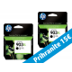 HP originalno dvojno pakiranje kartuše 903 XL, črna, 2x825 str
