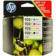 HP originalen komplet XL kartuš 920XL črna+modra+rdeča+rumena za 3x700 str.,C2N92AE