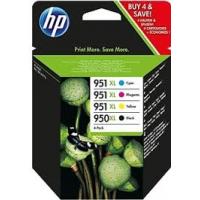 HP originalen komplet XL kartuš 950XL črna, 951XL modra, rdeča, rumena, C2P43AE