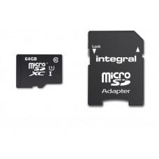 INTEGRAL 64GB SMARTPHONE & TABLET MICRO SDXC class10 UHS-I U1 90MB/s SPOMINSKA KARTICA+ SD