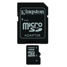 SDHC Kingston micro 16GB C4, Class 4 - SD adapter (SDC4/16GB)