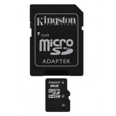 Spominska kartica micro SD KINGSTON 8 GB C4 z SD adapterjem (SDC4/8GB)