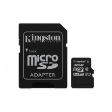 SDHC KINGSTON MICRO 32GB CANVAS SELECT, 80/10MB/s, UHS-I Speed Class 1 (U1), adapter (SDCS