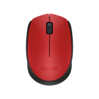 Miška Logitech M171 Wireless, rdeča