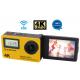 Aktivna športna kamera MANTA MM9359FS z dodatnim zaslonom in stabilizacijo obraza, Premium