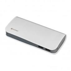 Platinet polnilna baterija 15.000 mAh, usnje, bela