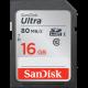 SDHC SANDISK 16GB ULTRA, 80MB/s, UHS-I C10
