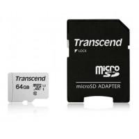 SDXC TRANSCEND MICRO 64GB 300S, 95/45MB/s, C10, UHS-I Speed Class 3 (U3), adapter