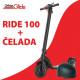 Električni skiro UrbanRide 100 + mestna čelada